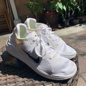 Nike Free Rn White Running Shoes